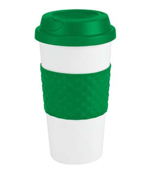 Color Banded Coffee Cup